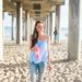 Huntington Beach pier under the boardwalk Lilly pulitzer Silvana top summer time