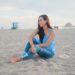 Huntington Beach pier under the boardwalk Lilly pulitzer Silvana top summer time sunset