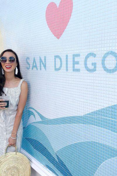San Diego wall sign in La Jolla by sugarfina
