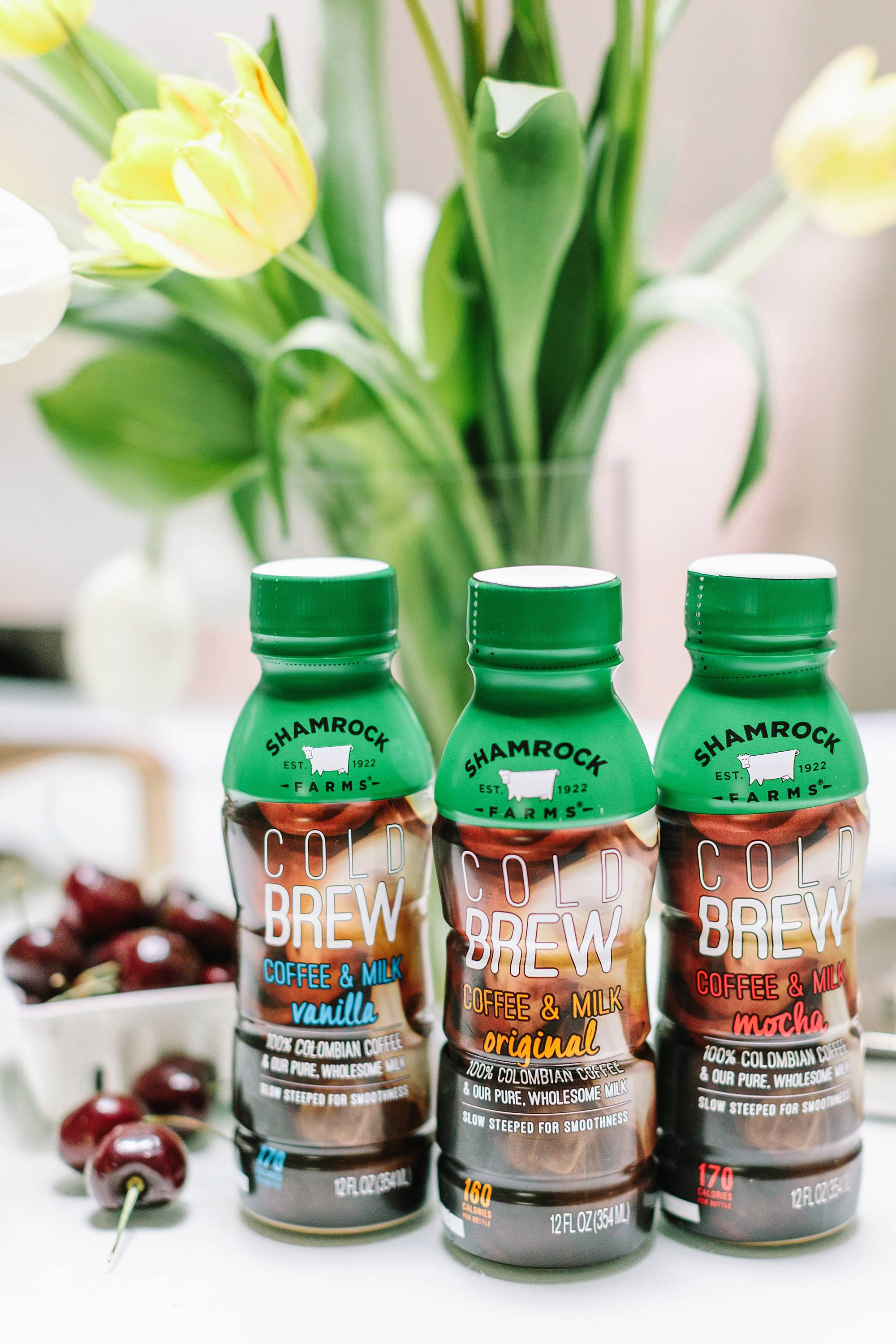 cold brew shamrock farms no hormones smooth ready to go in delicious flavors twice the caffeine as coffee