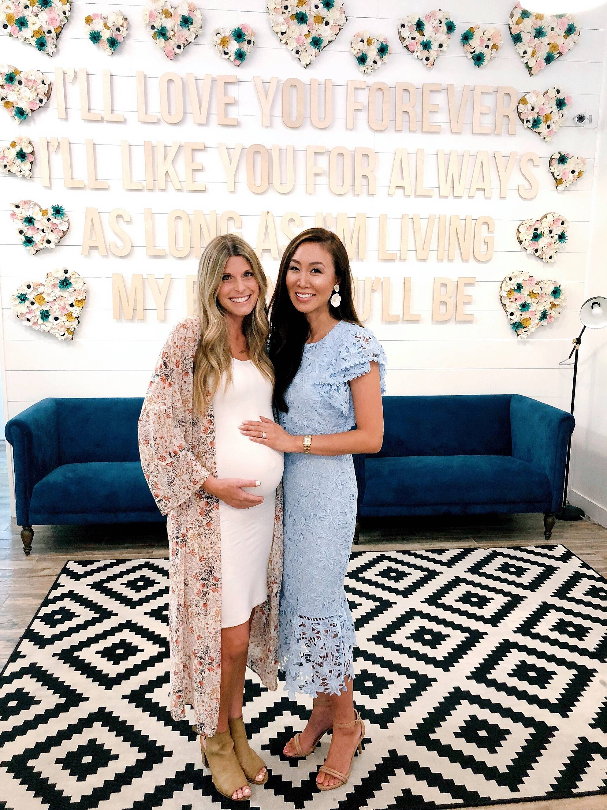 "joss + j baby shower location in gilbert arizona cute baby shower and wall for a nursery ""I'll love you for always"""