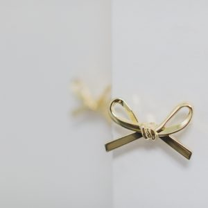 gold bow knob on closet doors