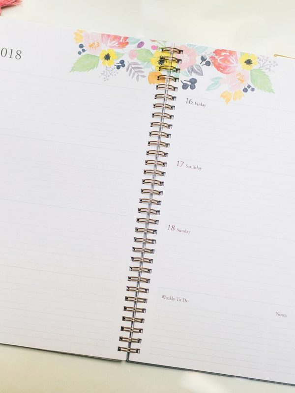 monthly calendar with to do list on the side available at Walmart