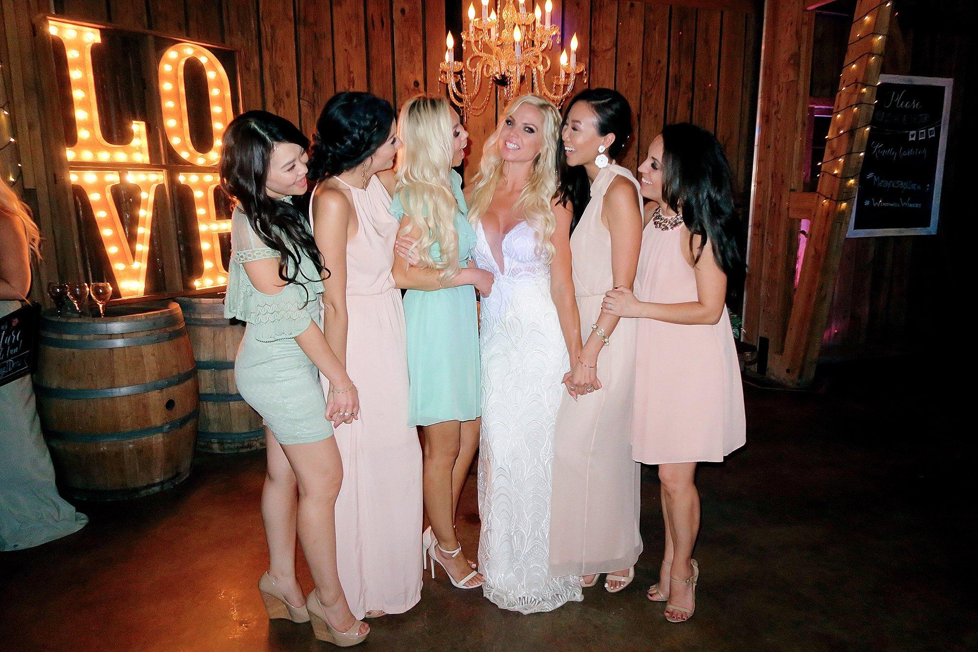 wedding guests at Florence arizona wedding windmill winery