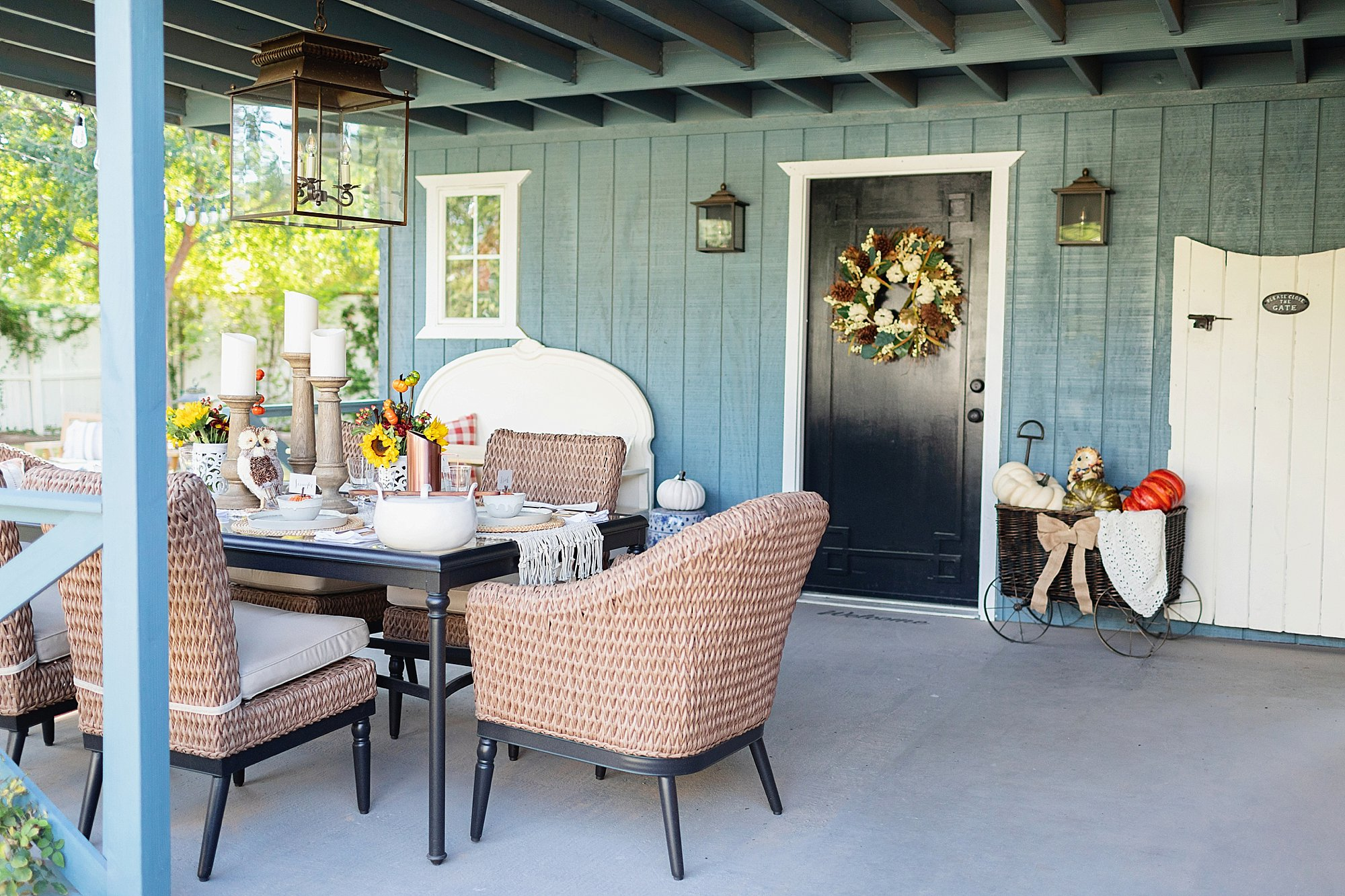 fall decor outdoor entertaining with balsam hill -