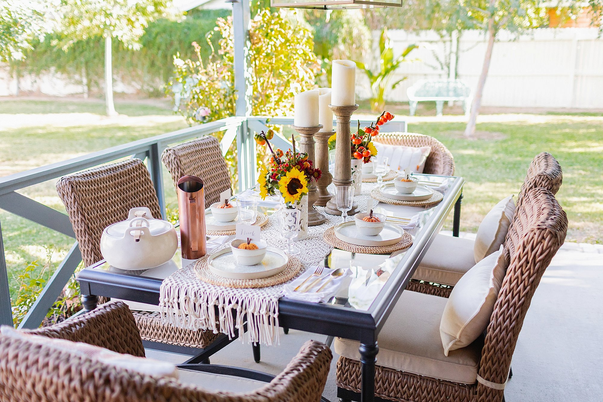 fall decor outdoor entertaining with balsam hill - set outdoor thanksgiving table