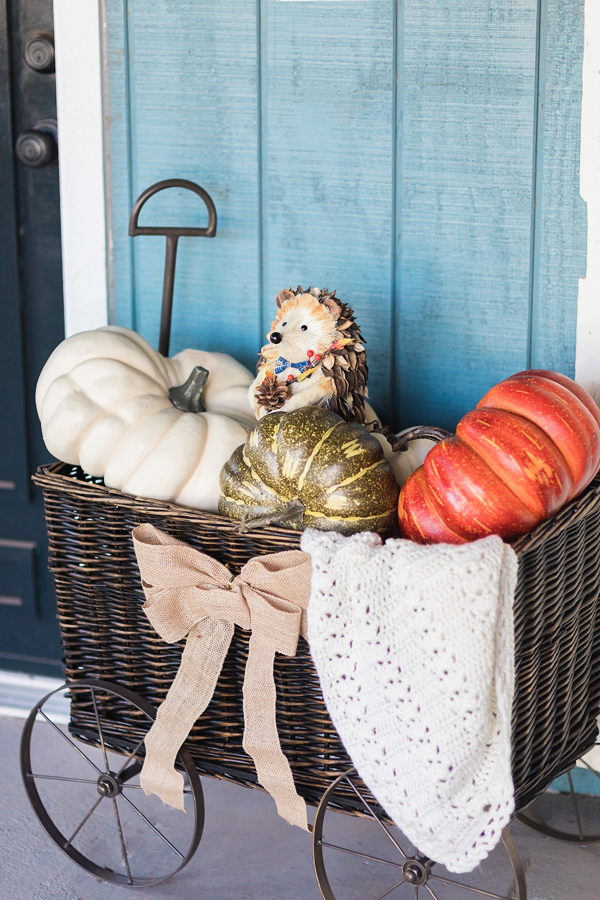 fall decor outdoor entertaining with balsam hill - wicker basket