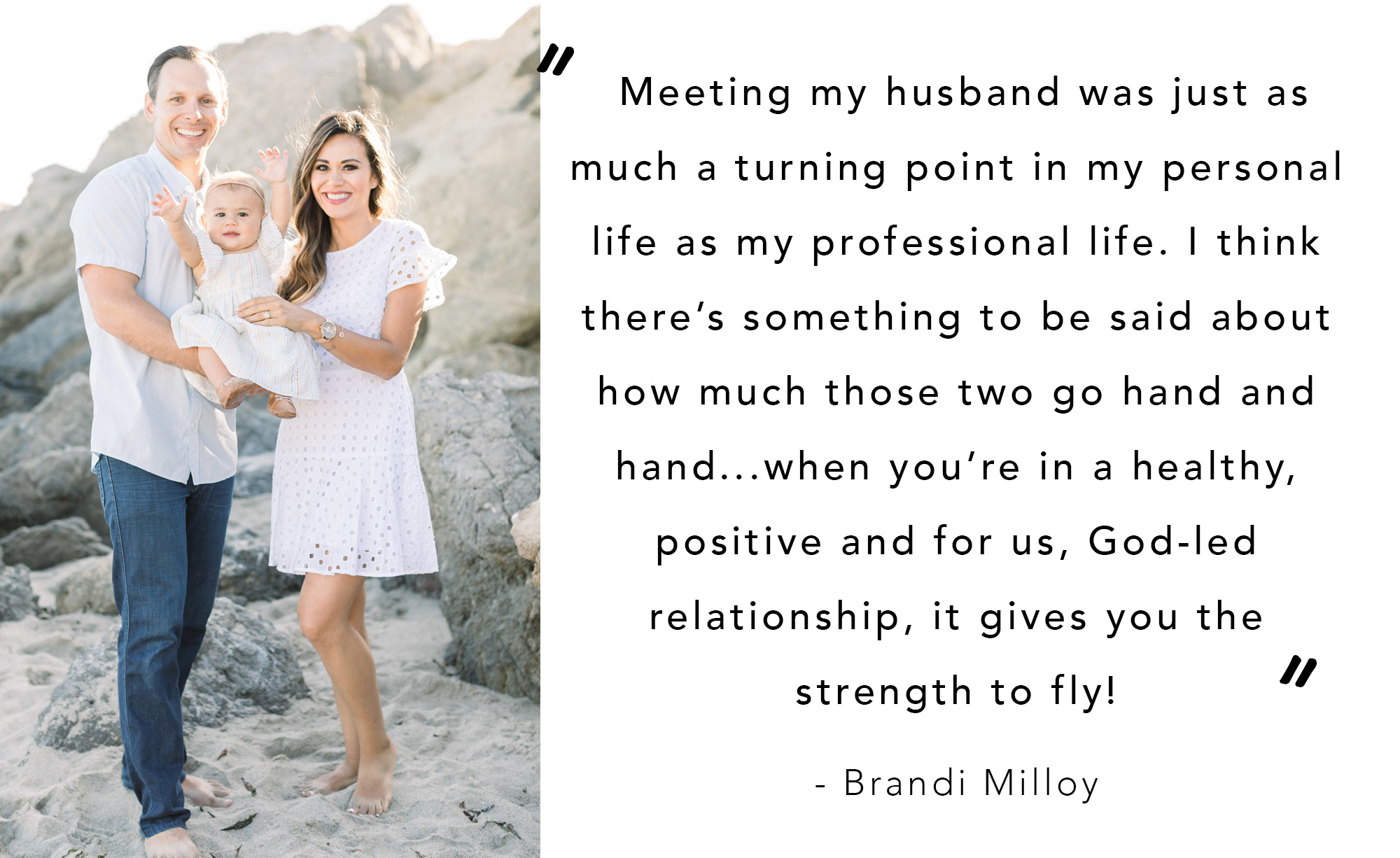Brandi Milloy, interview with food network host on how to balance motherhood with work and networking and meeting her husband