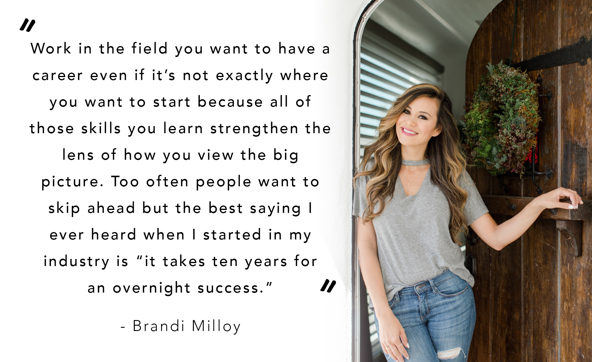 Brandi Milloy, interview with food network host on how to balance motherhood with work and networking and more!