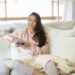 Tempur-pedic cloud pillow memory foam most comfortable pillow - review by Diana Elizabeth blog .. on couch binge watching Netflix and ready for a snooze after? hold remove in loungewear
