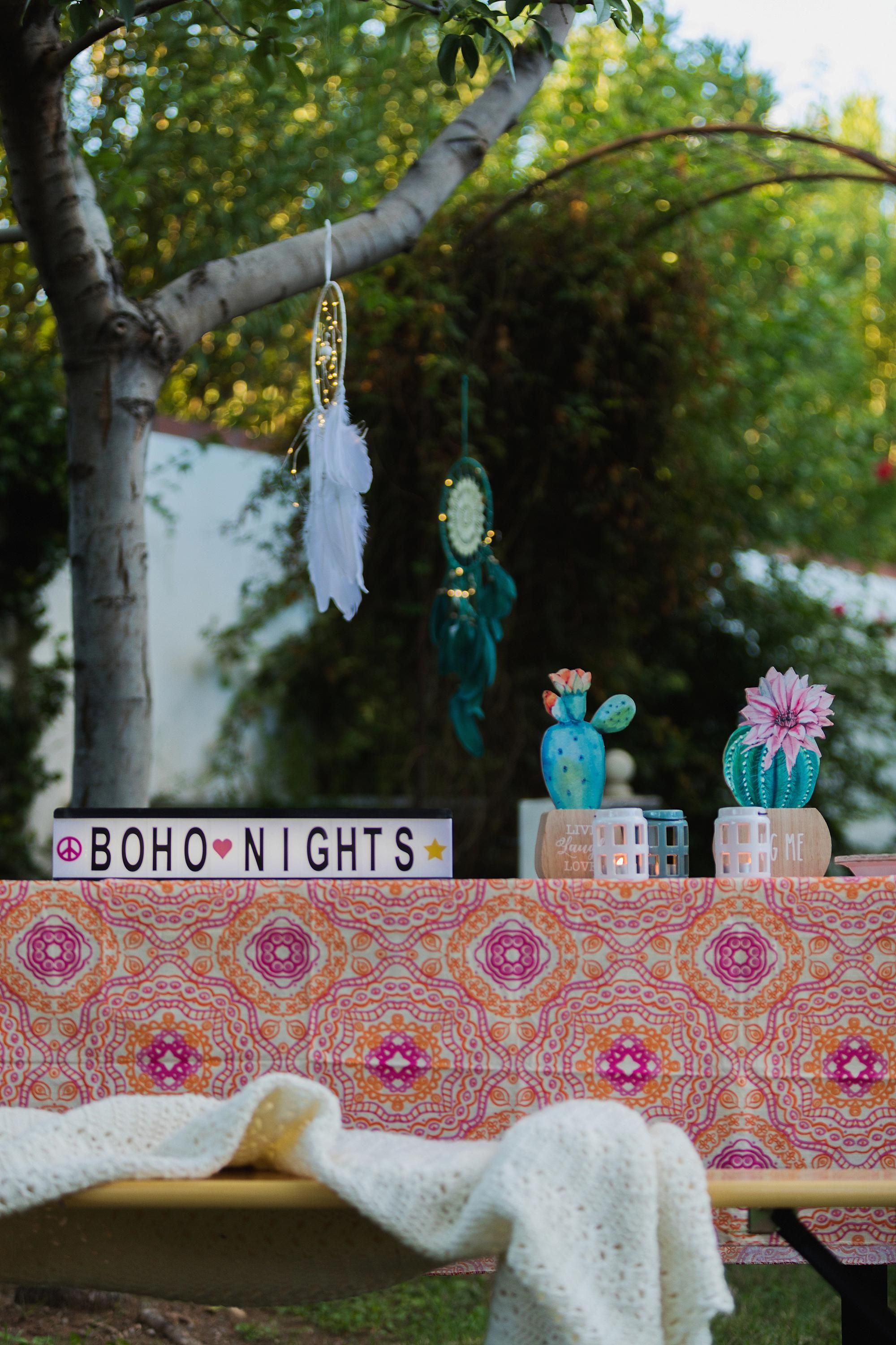 cafe string lights for a boho nights theme party great for a wedding too, these from the 99 cent only store! Check out this boho theme party on the blog #boho #bohoparty #bohoshower