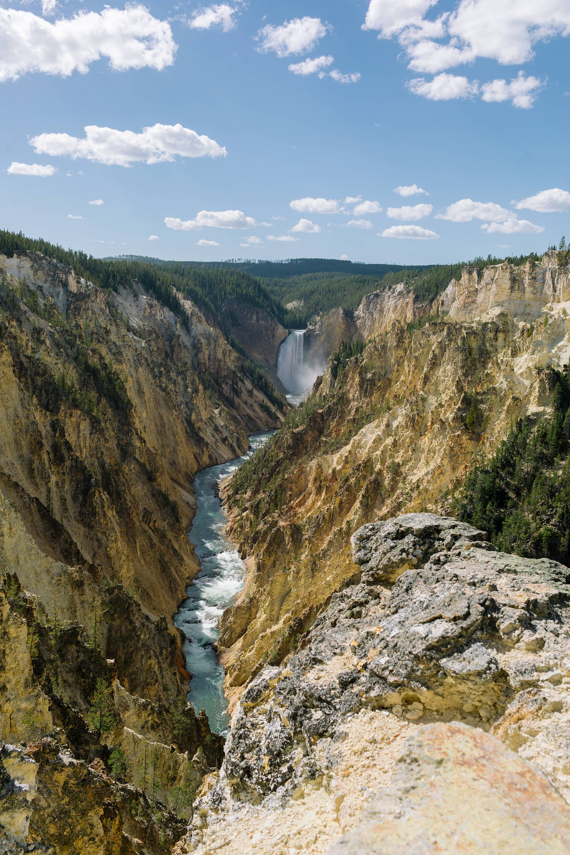 inspiration point at Yellowstone a great view yellowstone falls