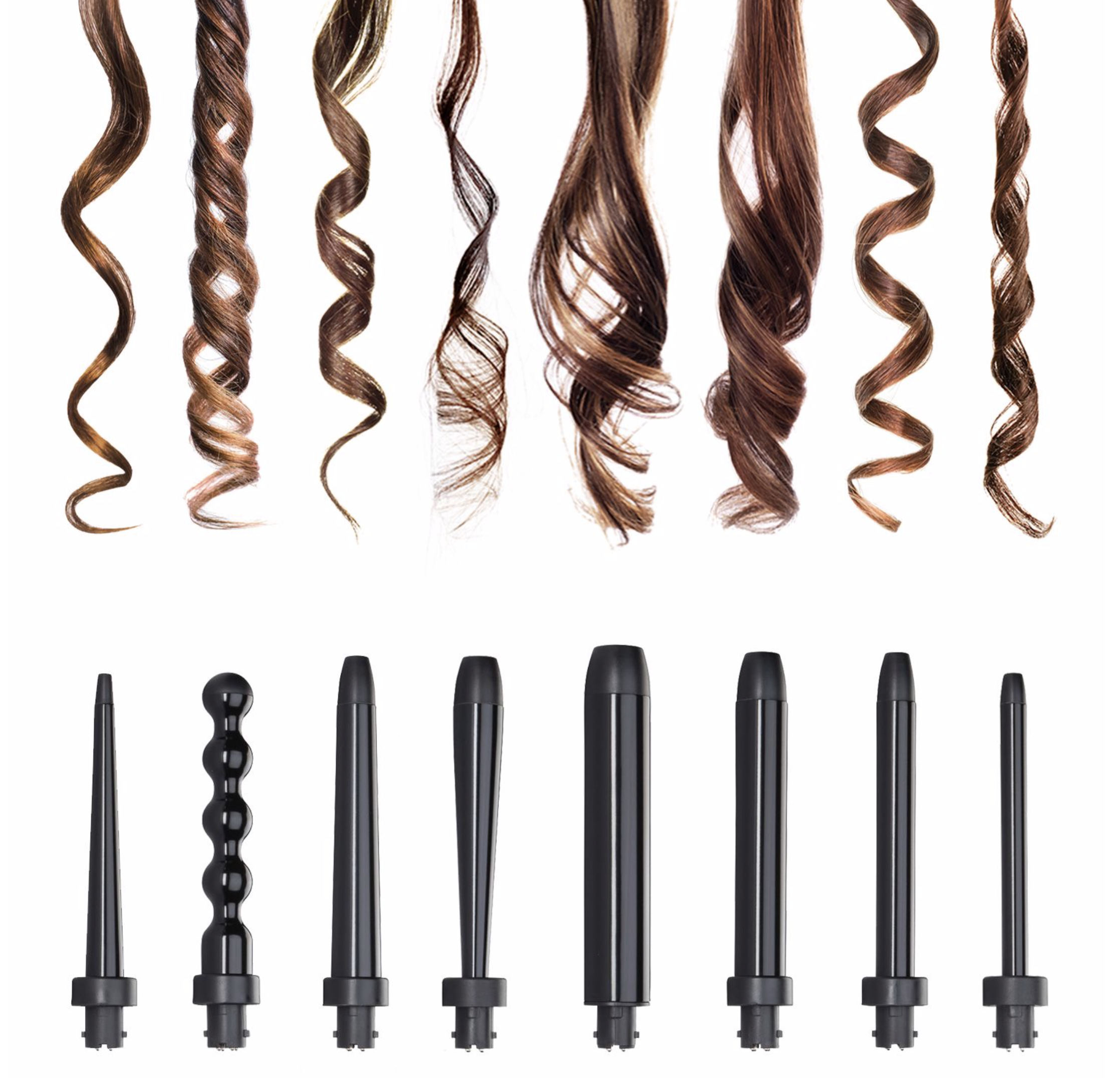 Octowand NuMe curls with 8 wands