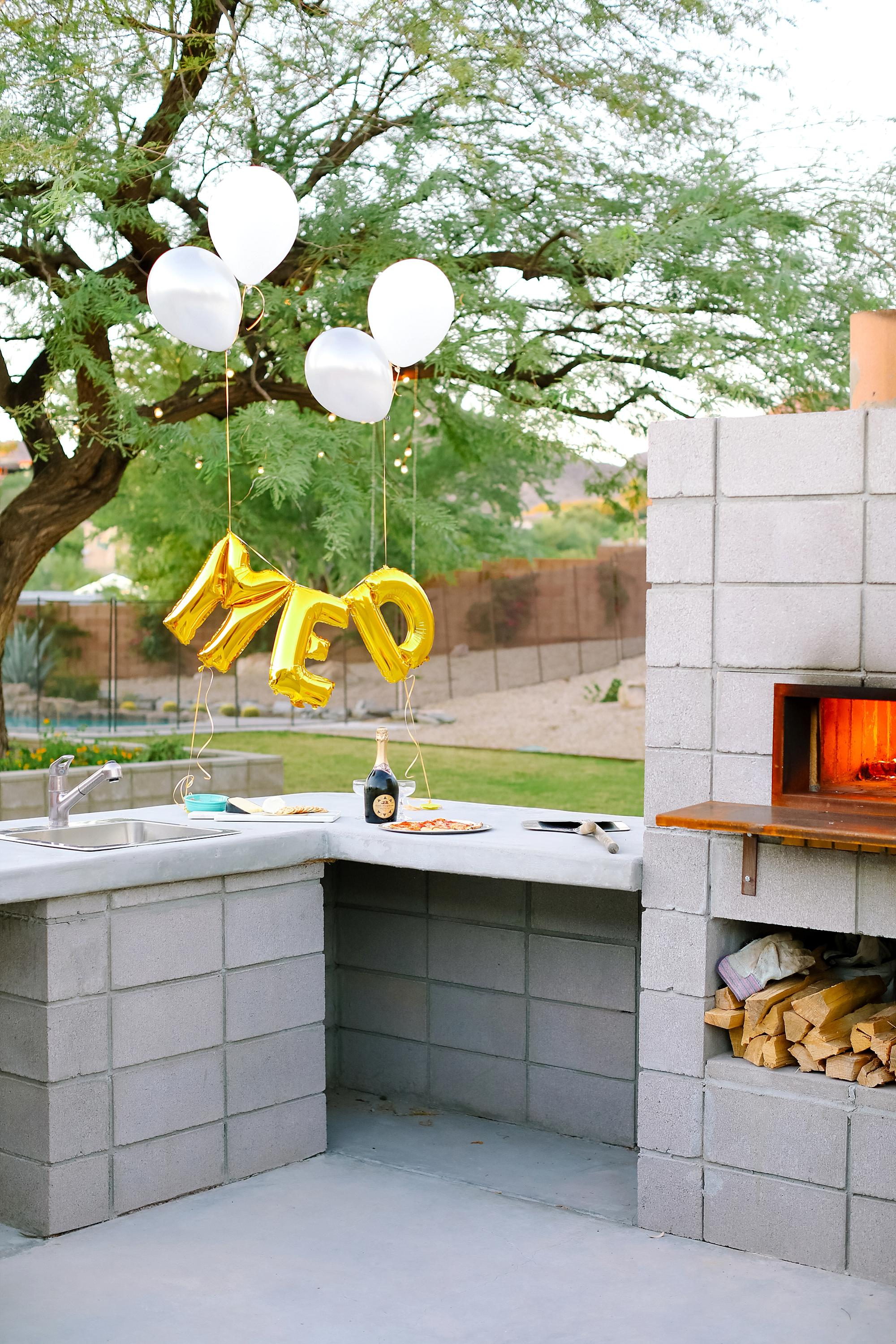 santa margherita prosecco superiore set by mylar alphabet balloons and the an outdoor pizza fireplace
