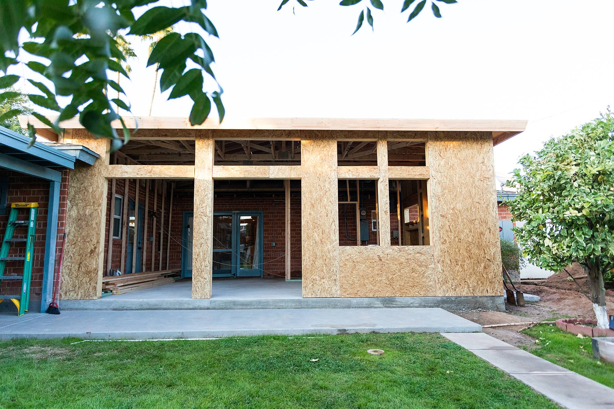 construction of home expansion in Phoenix Arizona
