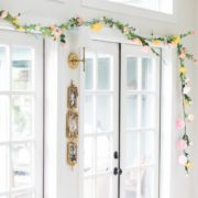 Floral easter spring garden DIY from 99 cent store flowers