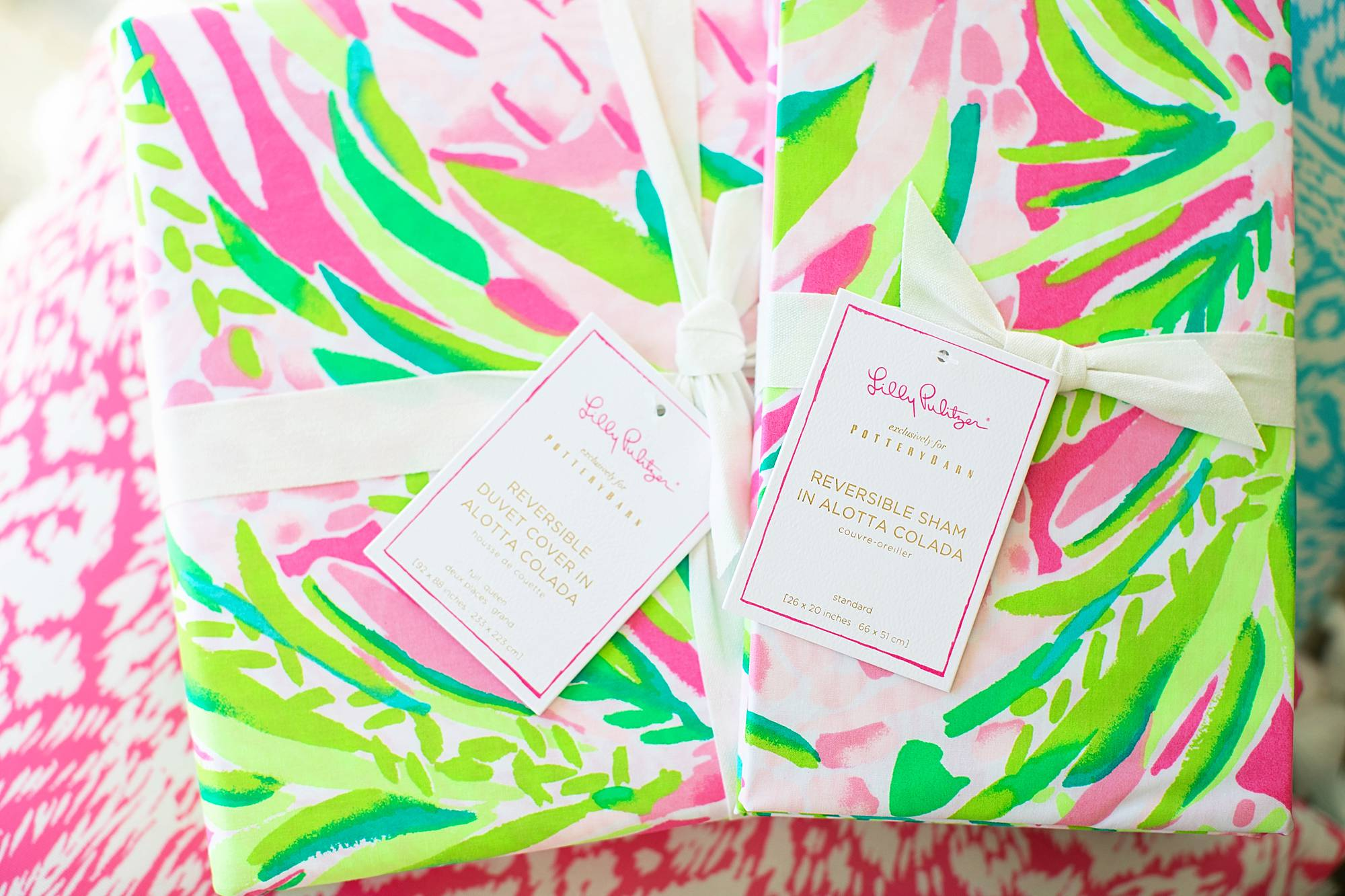 Lilly Pulitzer x Pottery Barn bedding spring summer 2019 reversible