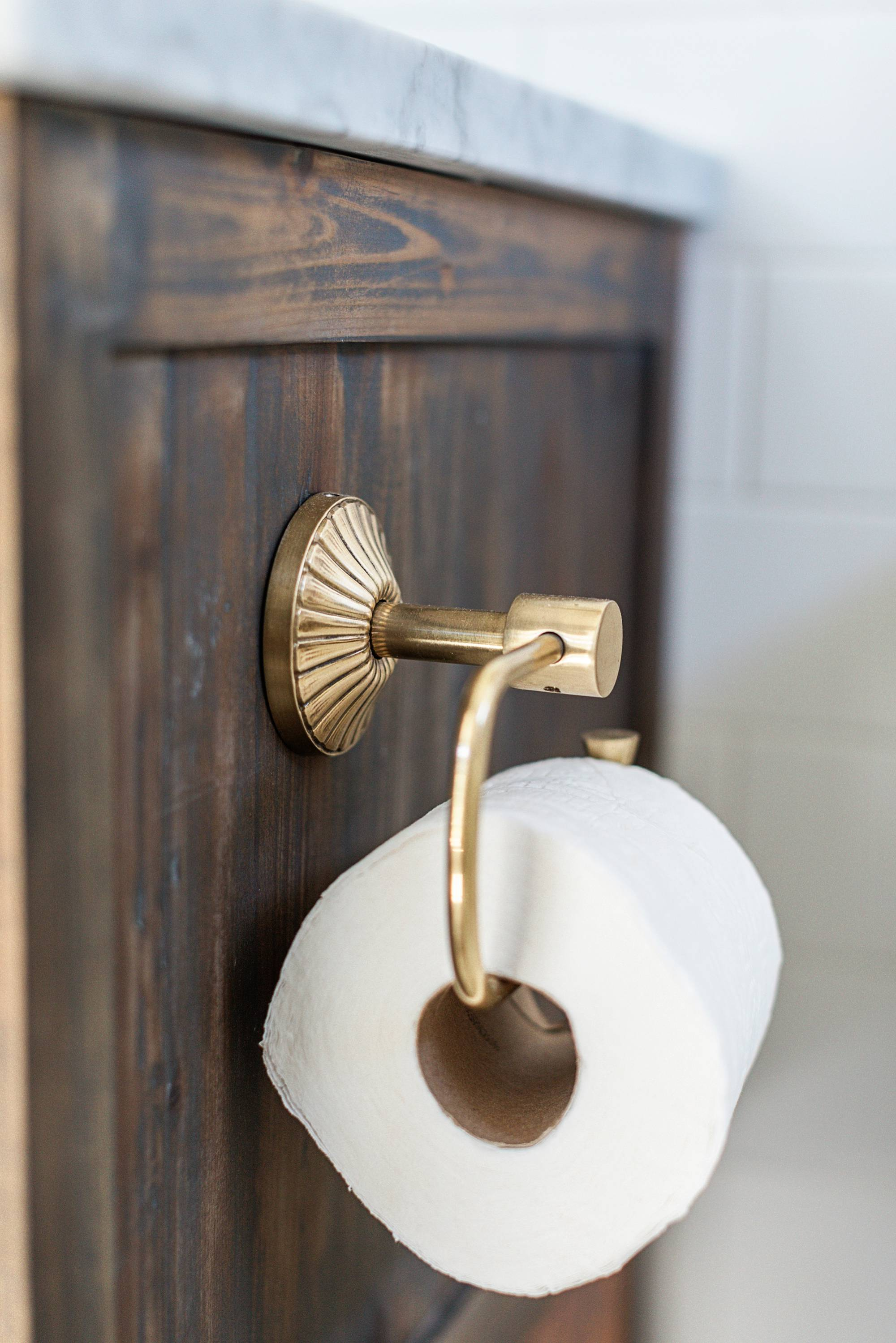 toilet paper roll holder brass from Anthropologie