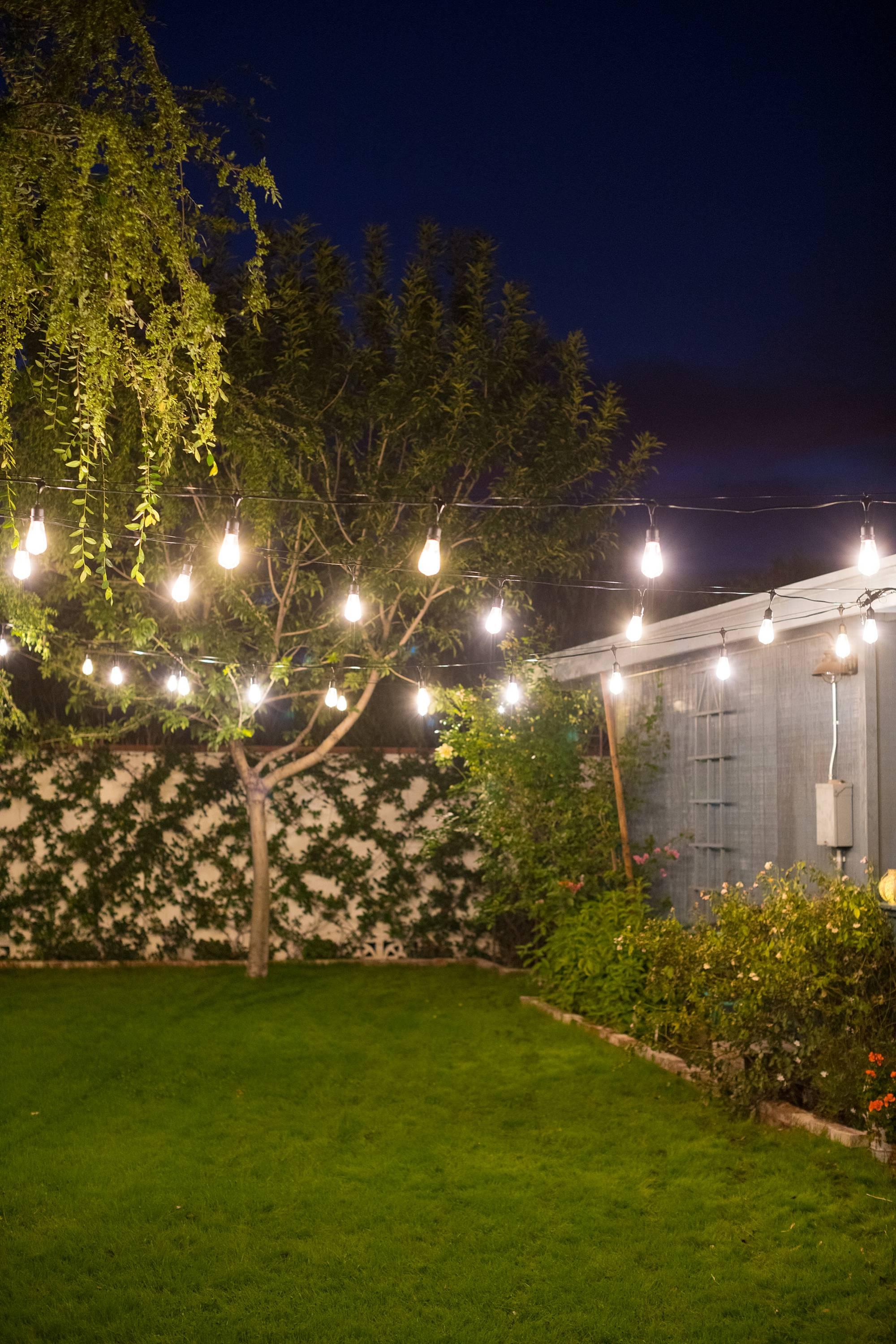 Diy Hanging Cafe String Lights Diana Elizabeth