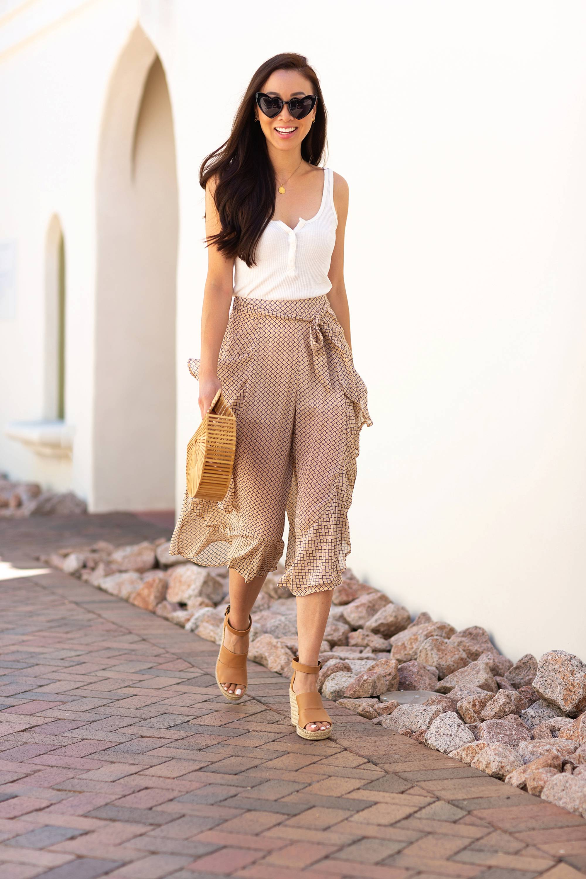 flowy pants, sheer with shorts under by Petal and Pup