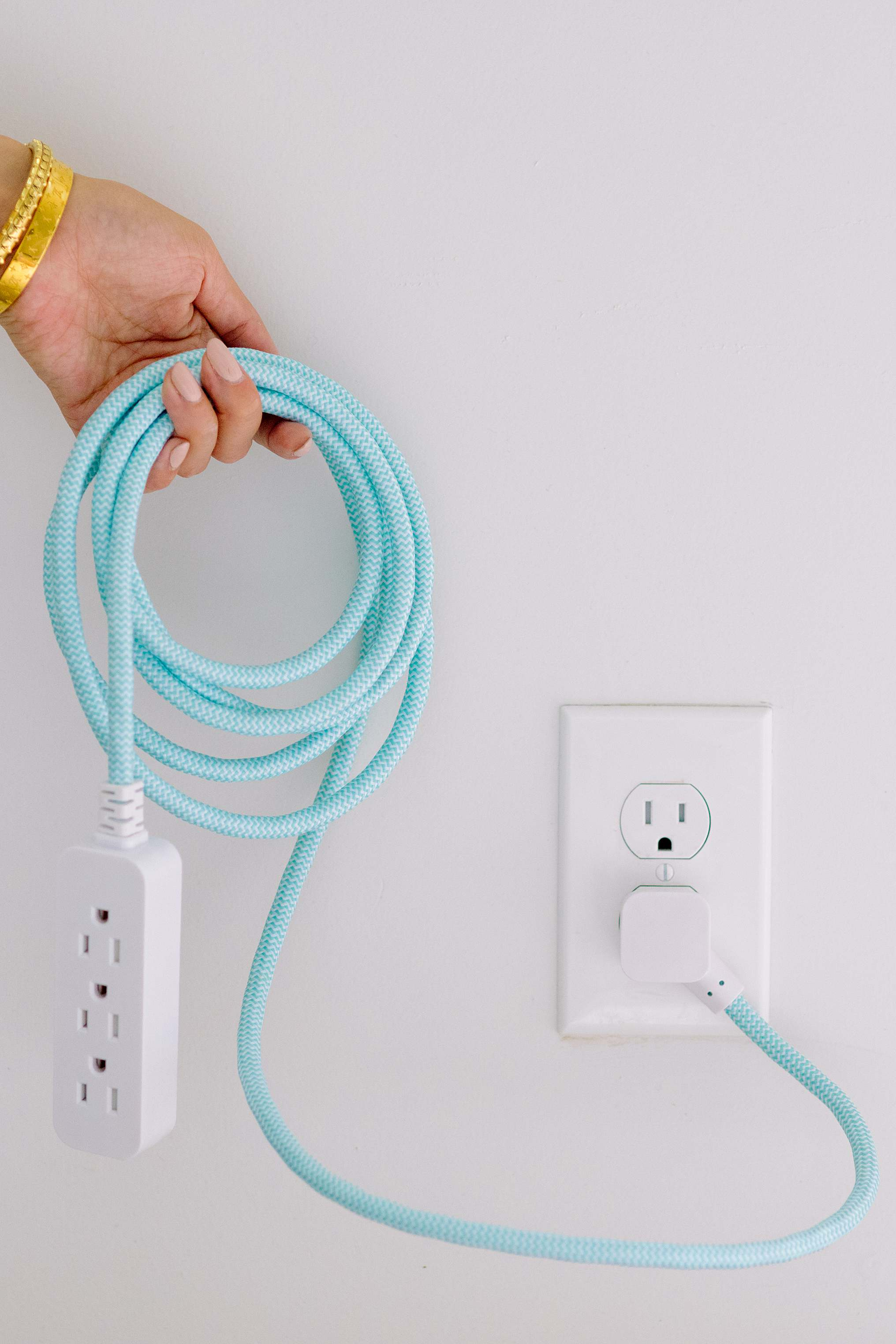 extension cord stylish blends into home decor