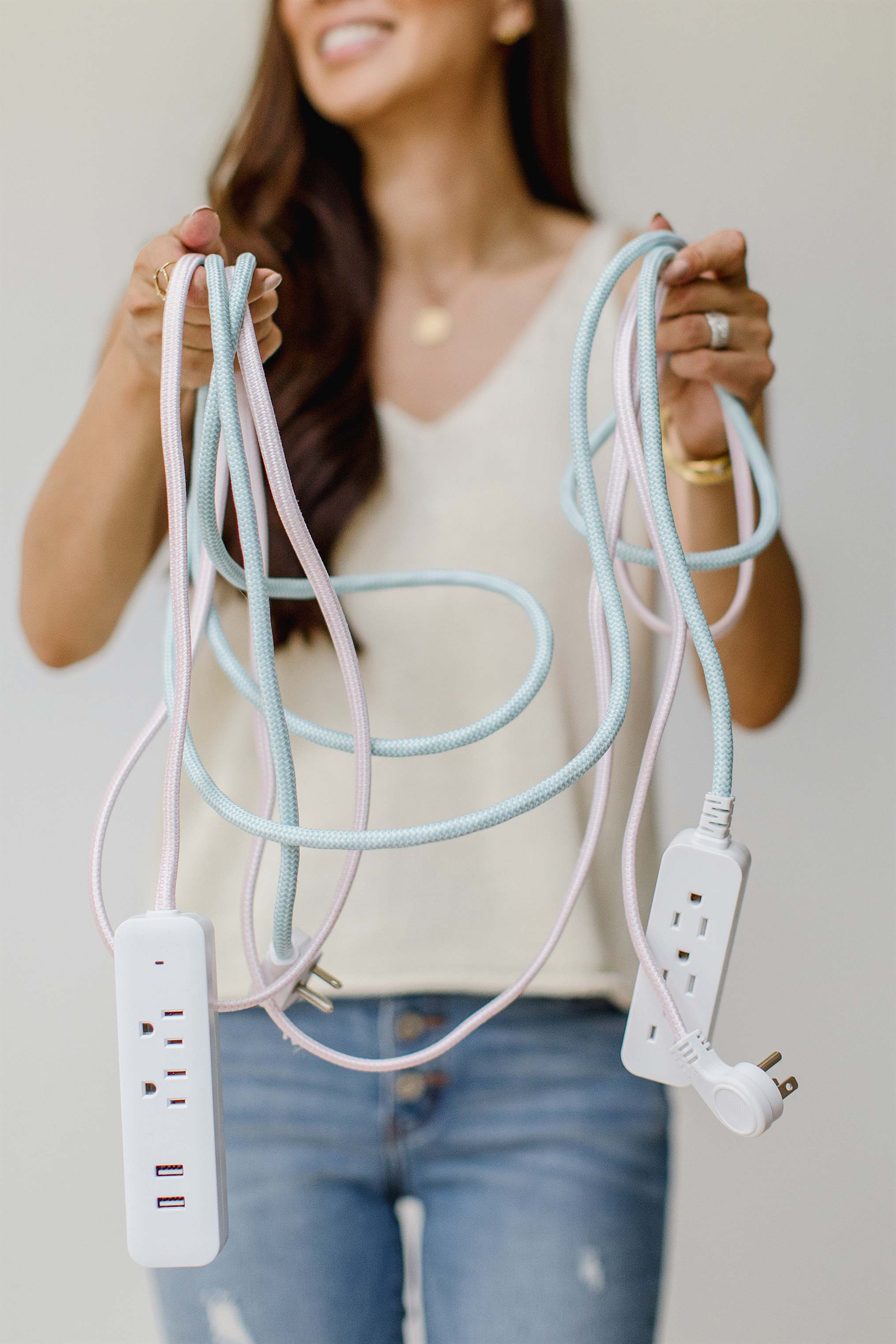stylish extension cords for your home blends into decor