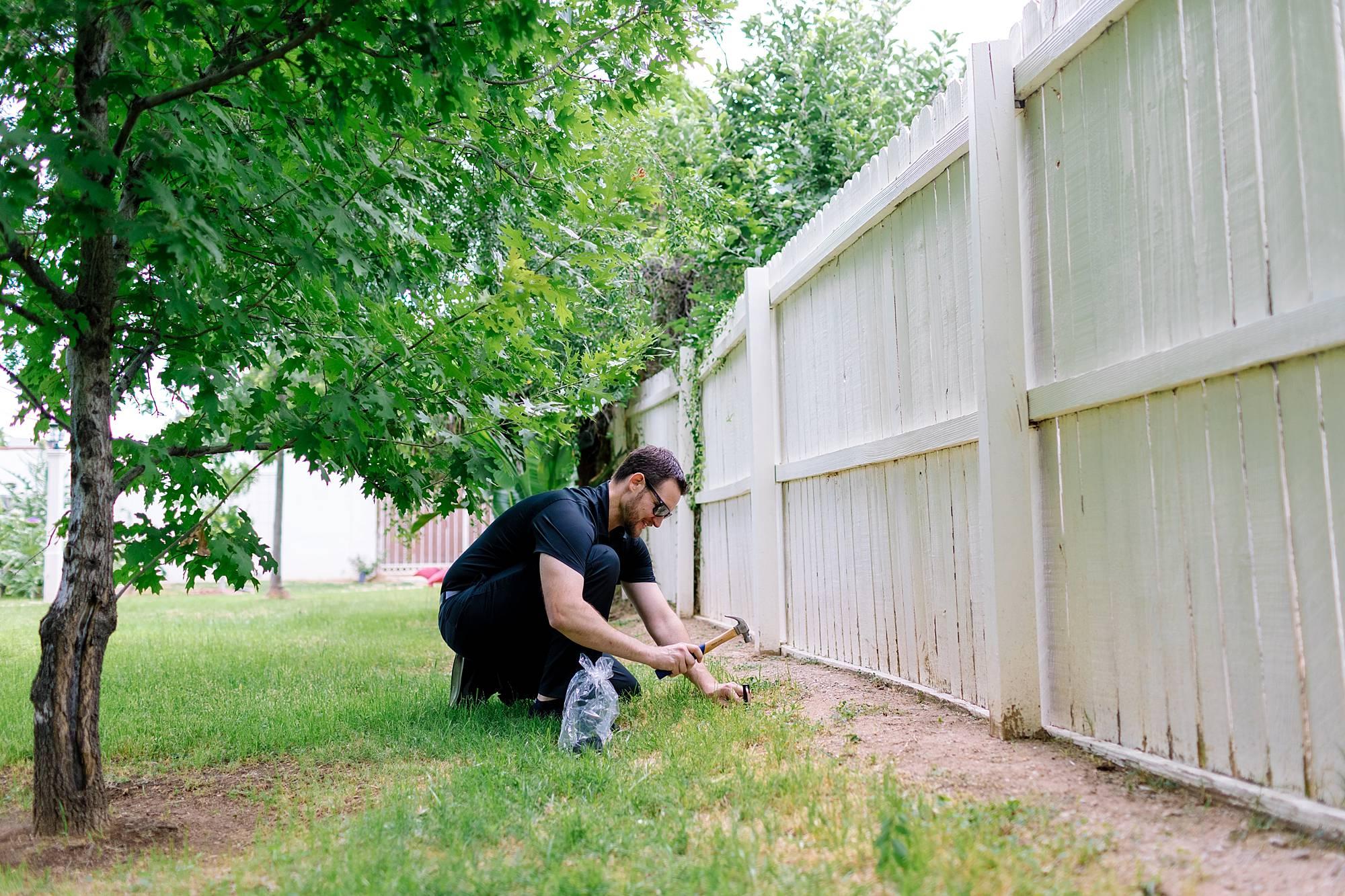 Setting the wire boundaries for Honda Miimo robotic lawnmower