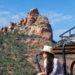 views in jeep sedona arizona safari Jeep Tour Diana Elizabeth hanging out window