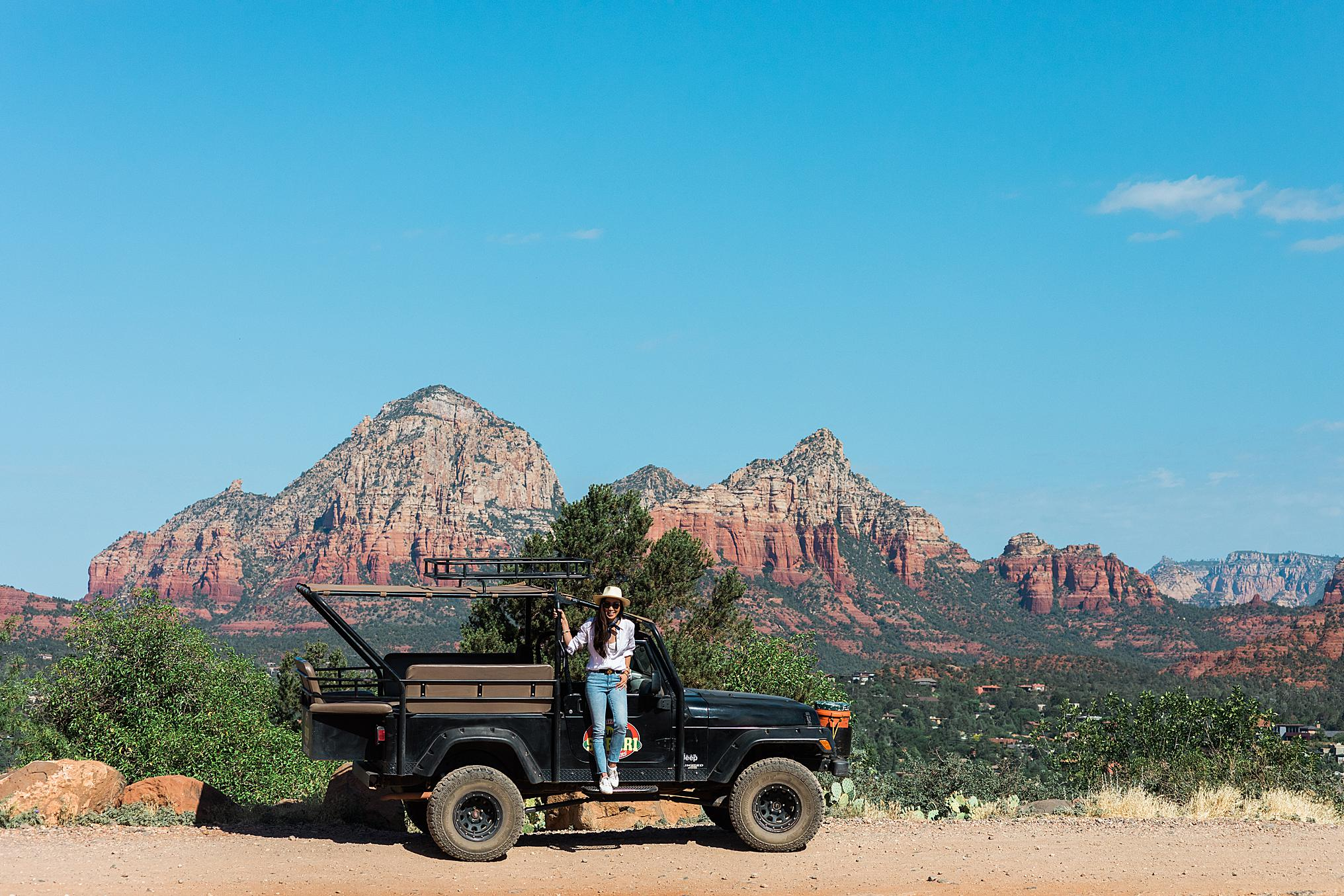 sedona Jeep Tour safari with travel blogger Diana Elizabeth