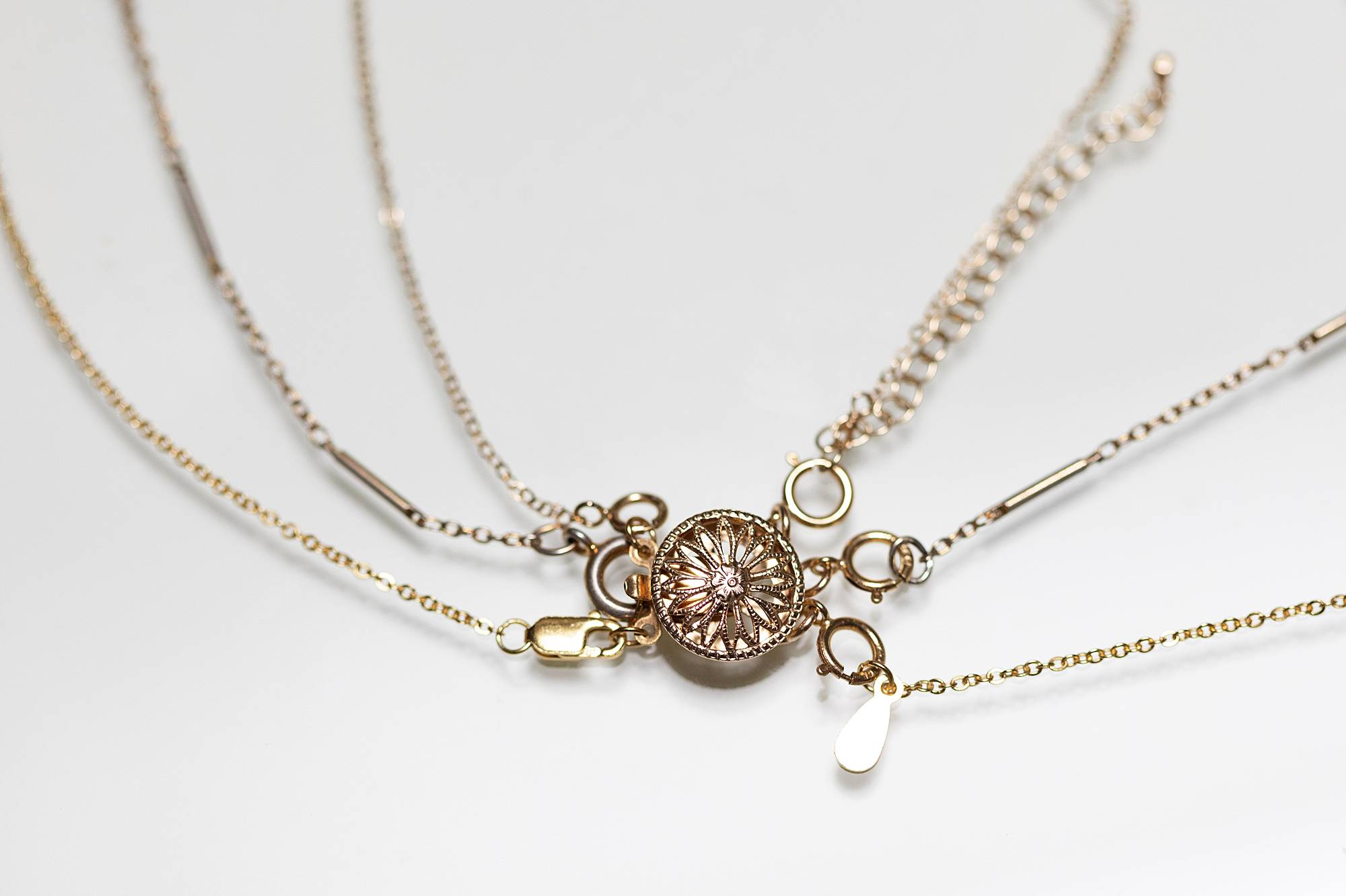 layering necklaces with a clasp