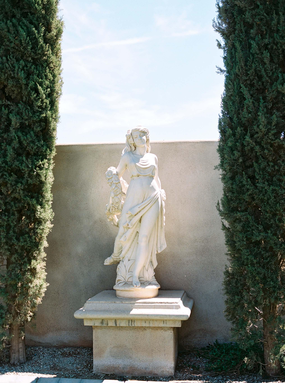 statue outdoors at Ashley castle wedding arizona