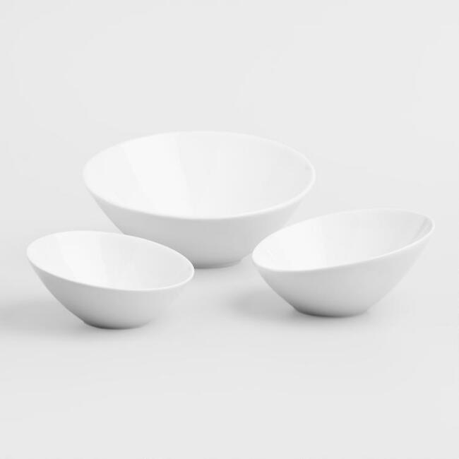 slanted bowl