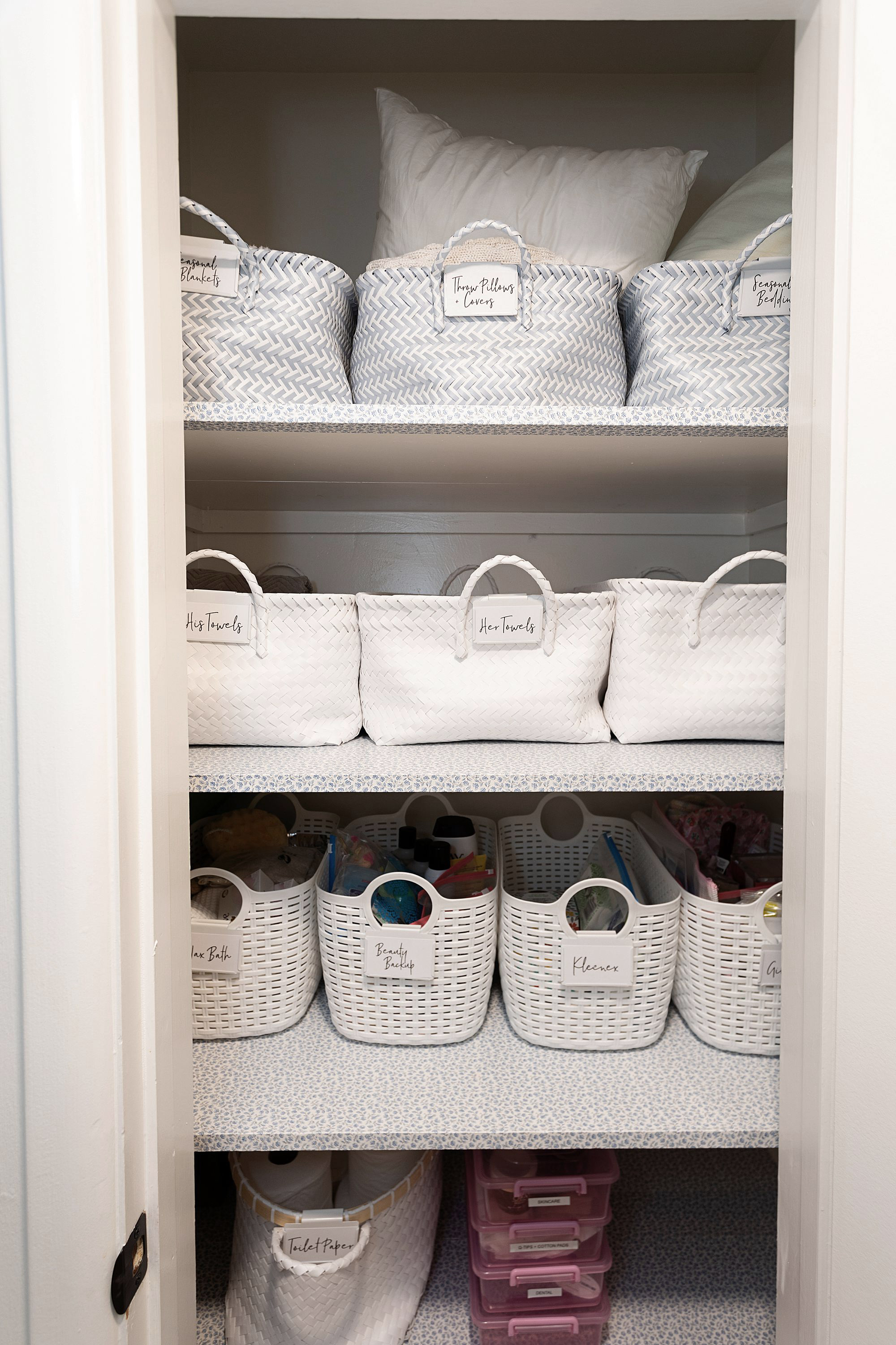 Organizing The Linen Closet Diana Elizabeth