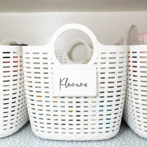 plastic bins for linen closet organization 99 cents store