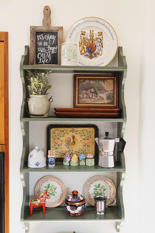 kitchen shelf travel souvenirs