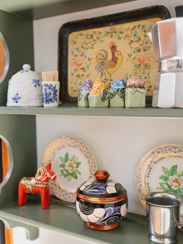 kitchen details on a little shelf
