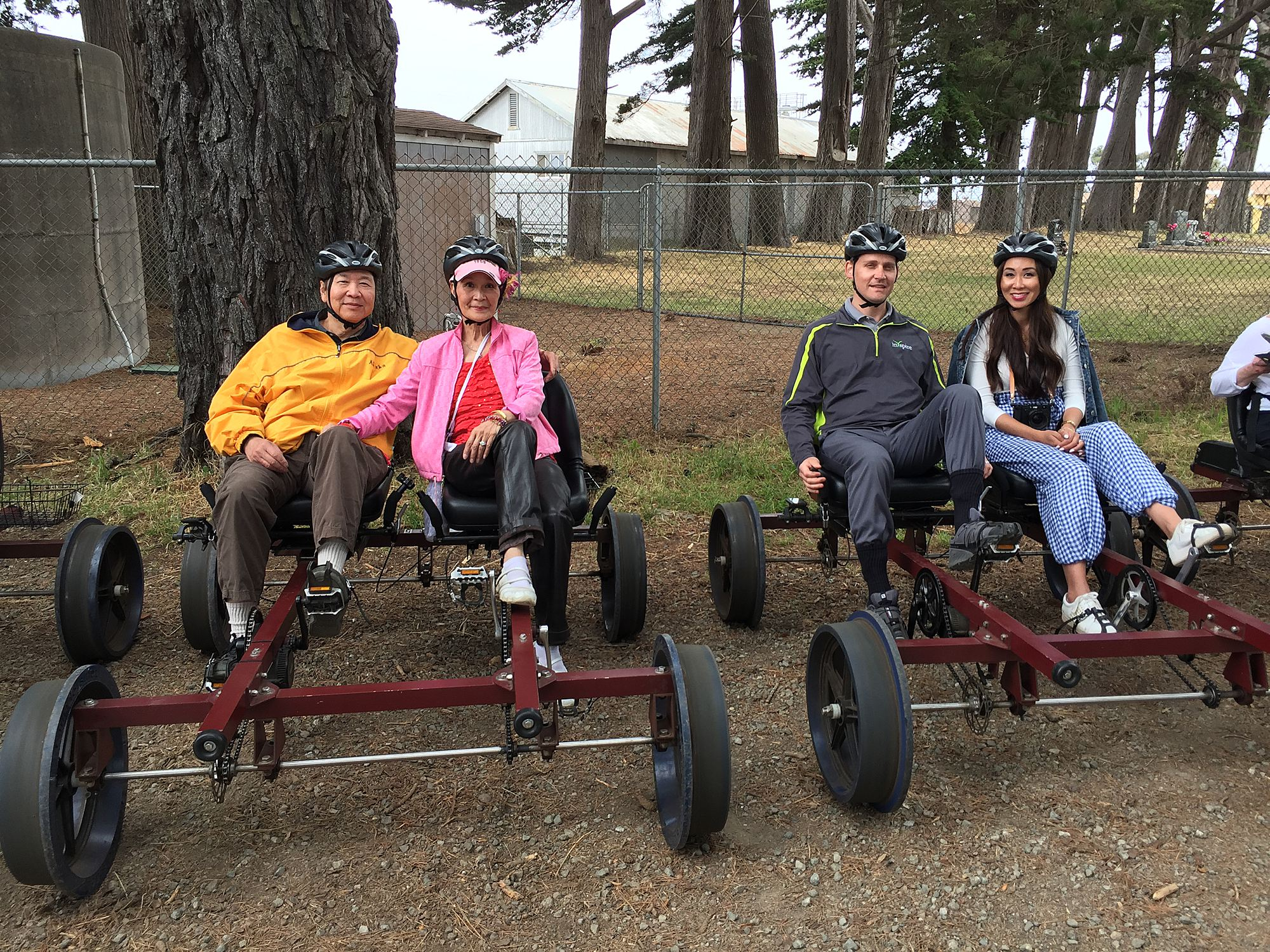 rail biking on skunk trail in Fort Bragg Mendocino County