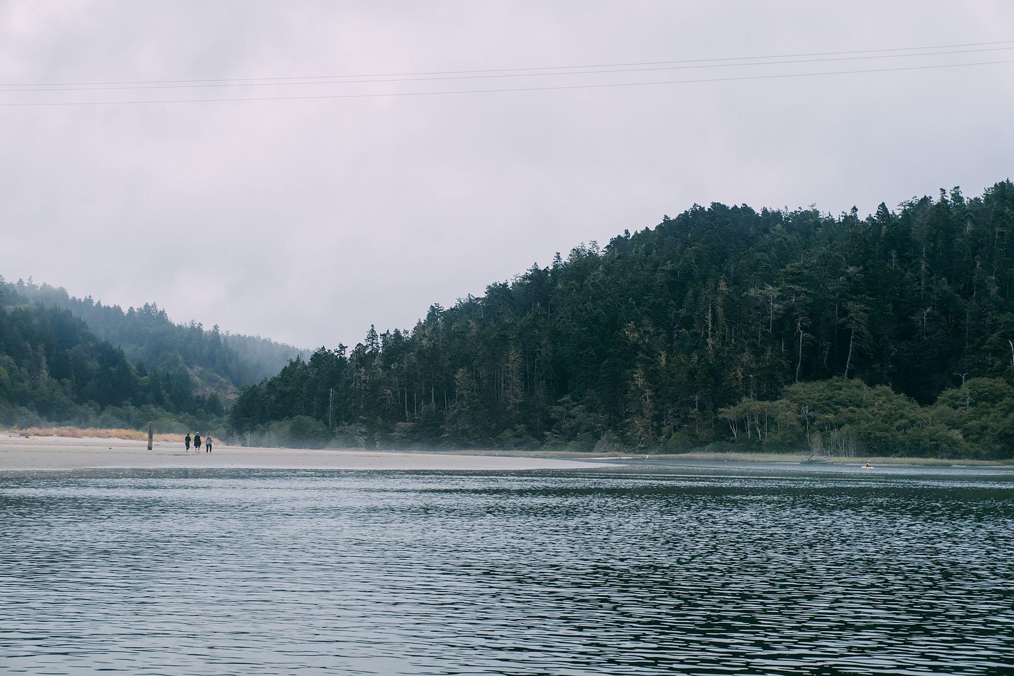 fog along big river catchacanoe canoe rental in Mendocino County