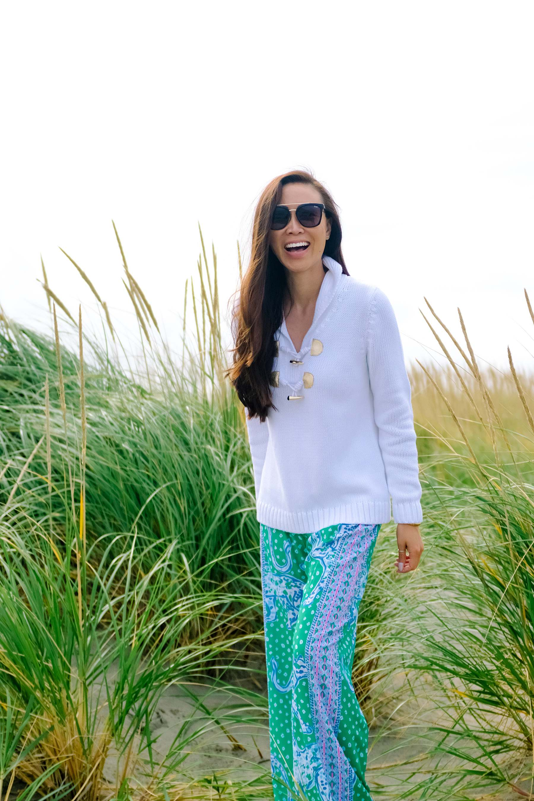 Long Beach Washington in Lilly Pulitzer BAL HARBOUR MID-RISE PALAZZO PANT