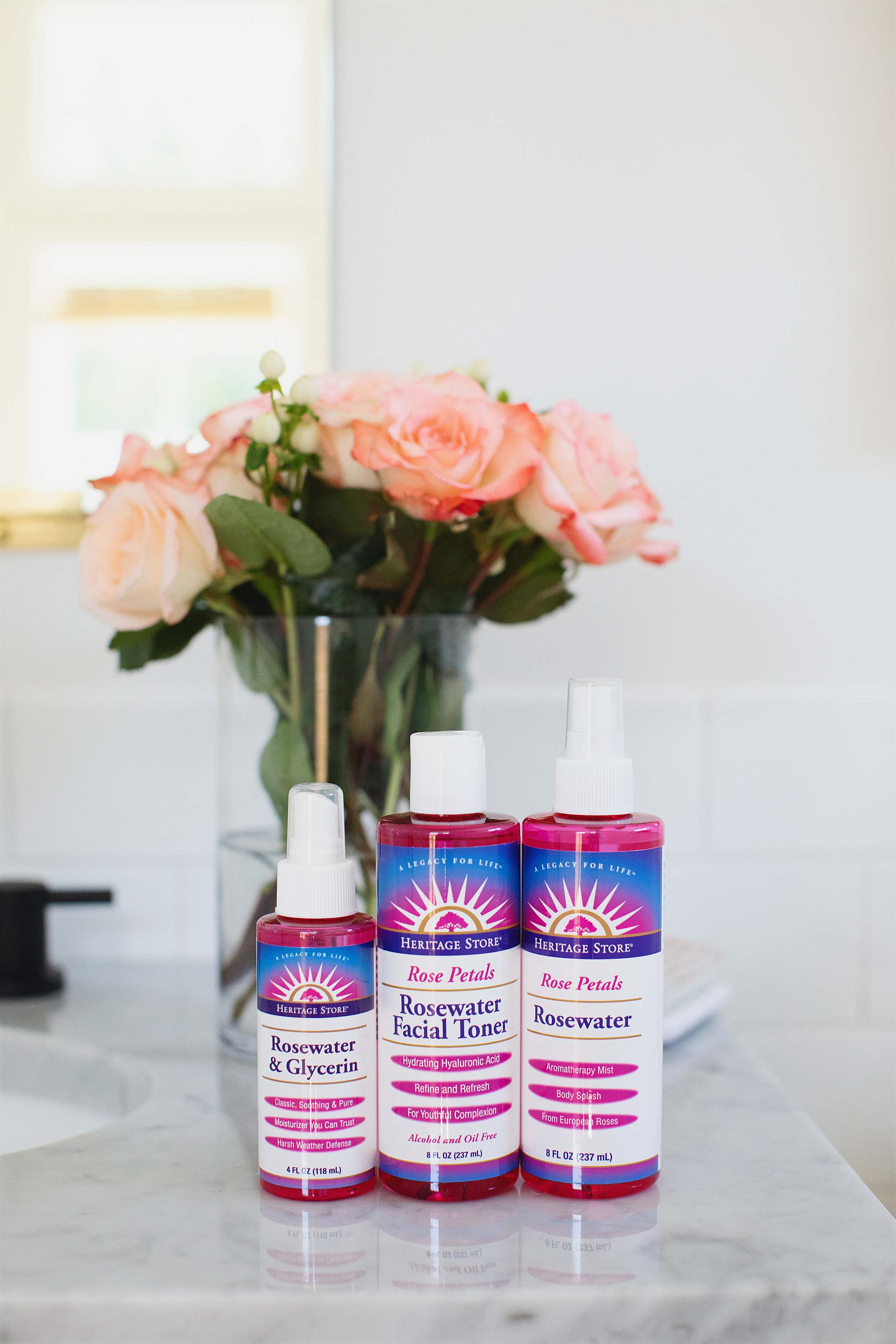 heritage store rosewater products