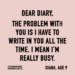 #thedianadiaries by blogger @dianaelizabeth_ www.dianaelizabethblog.com series of her childhood diaries