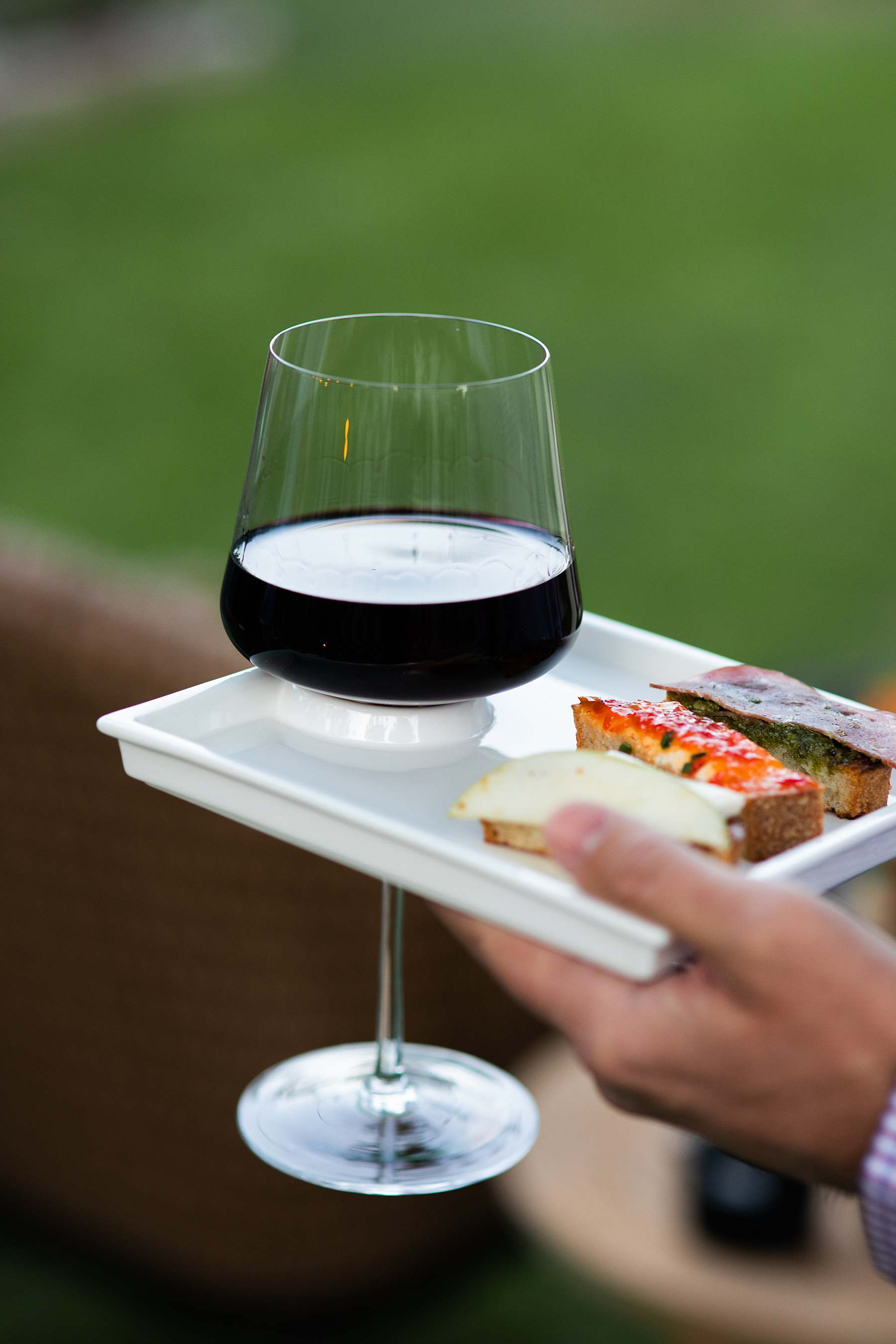 wine cheese appetizer plate handy for guests
