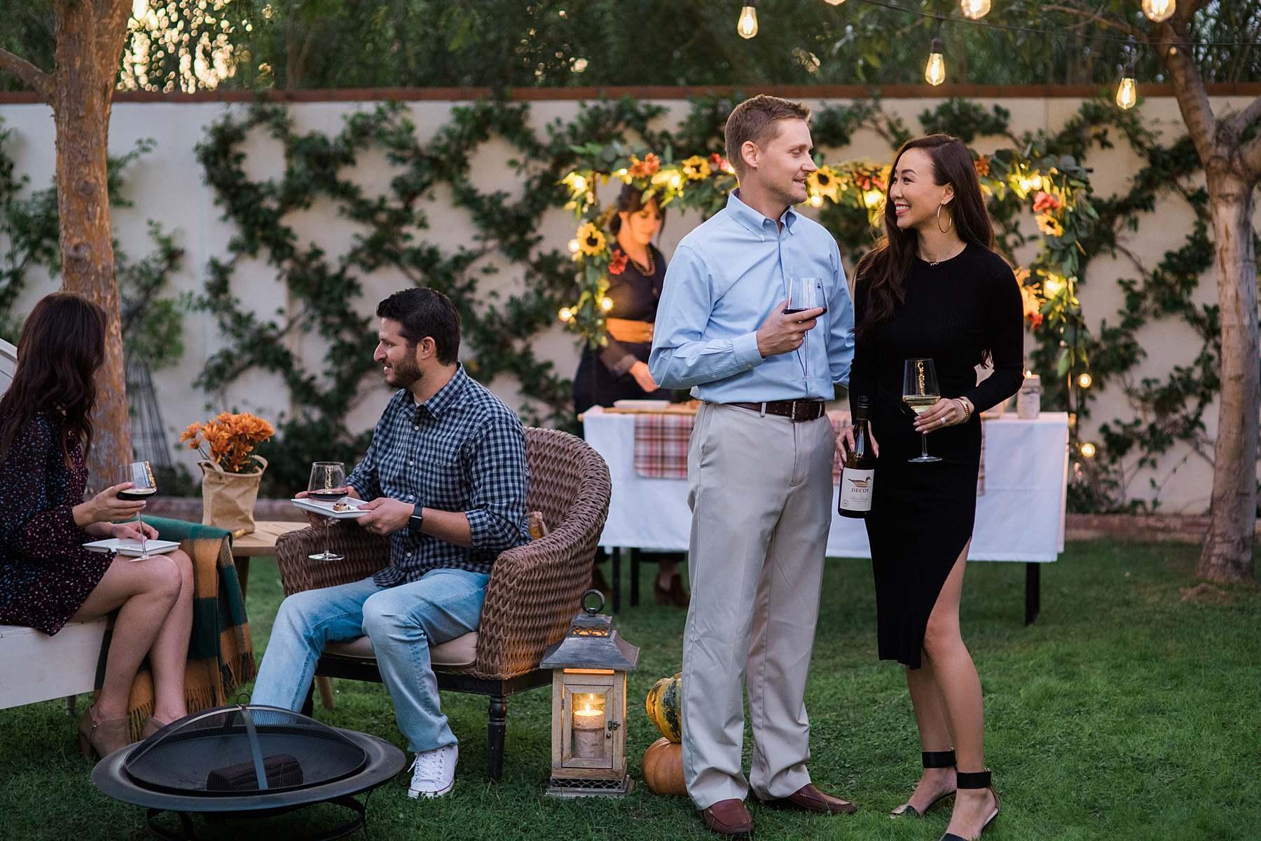 backyard harvest thanksgiving get together blogger diana Elizabeth phoenix