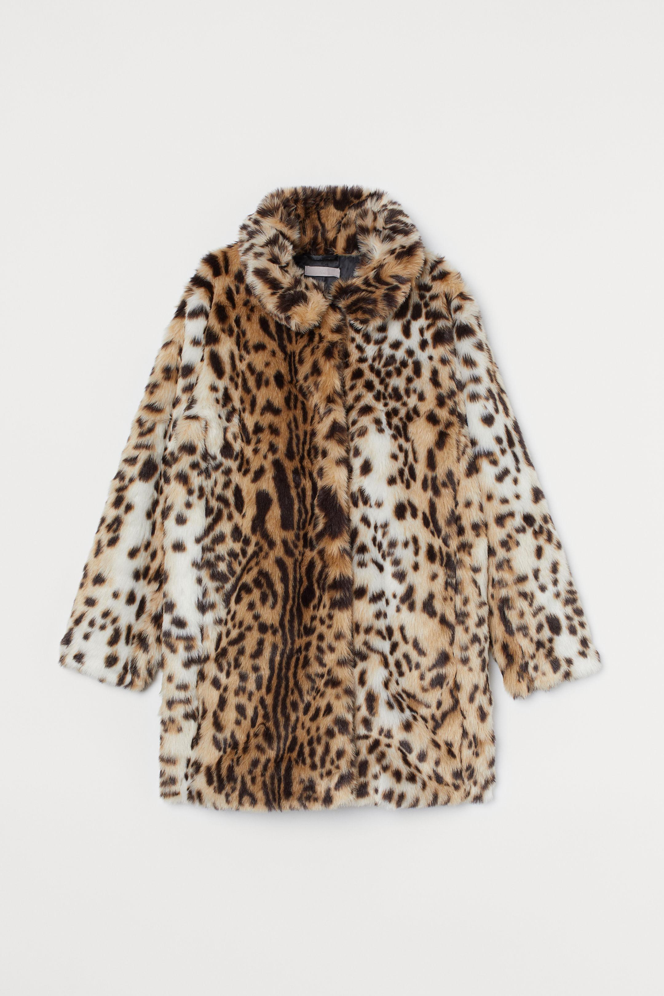 leopard print jacket coat H&M
