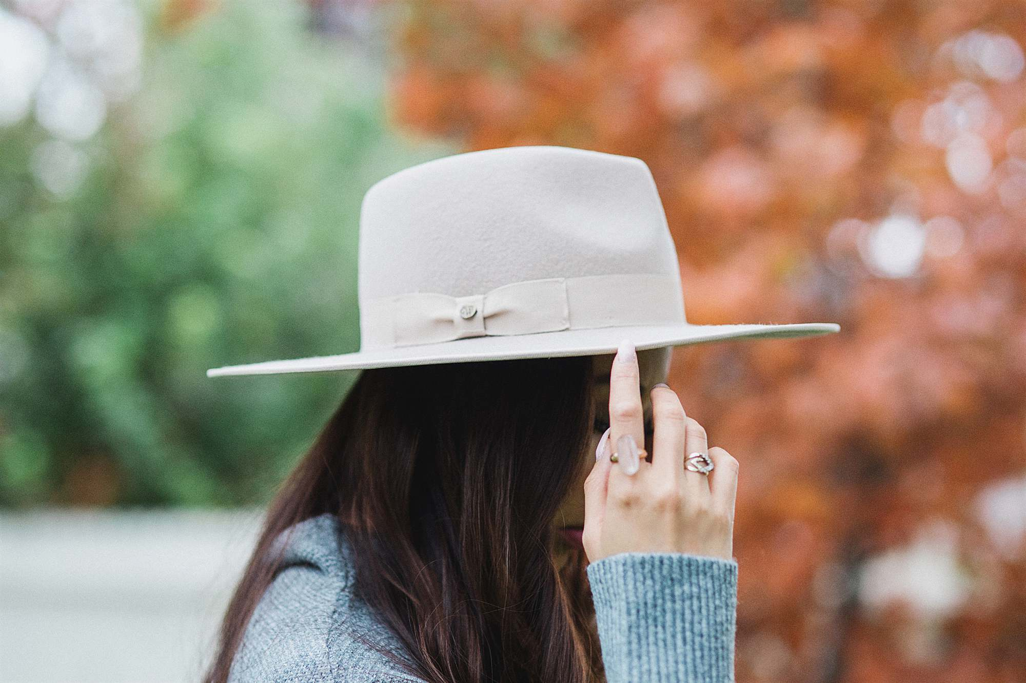 wool hat in bone color by fashionablehats.com great for fall and winter outfits