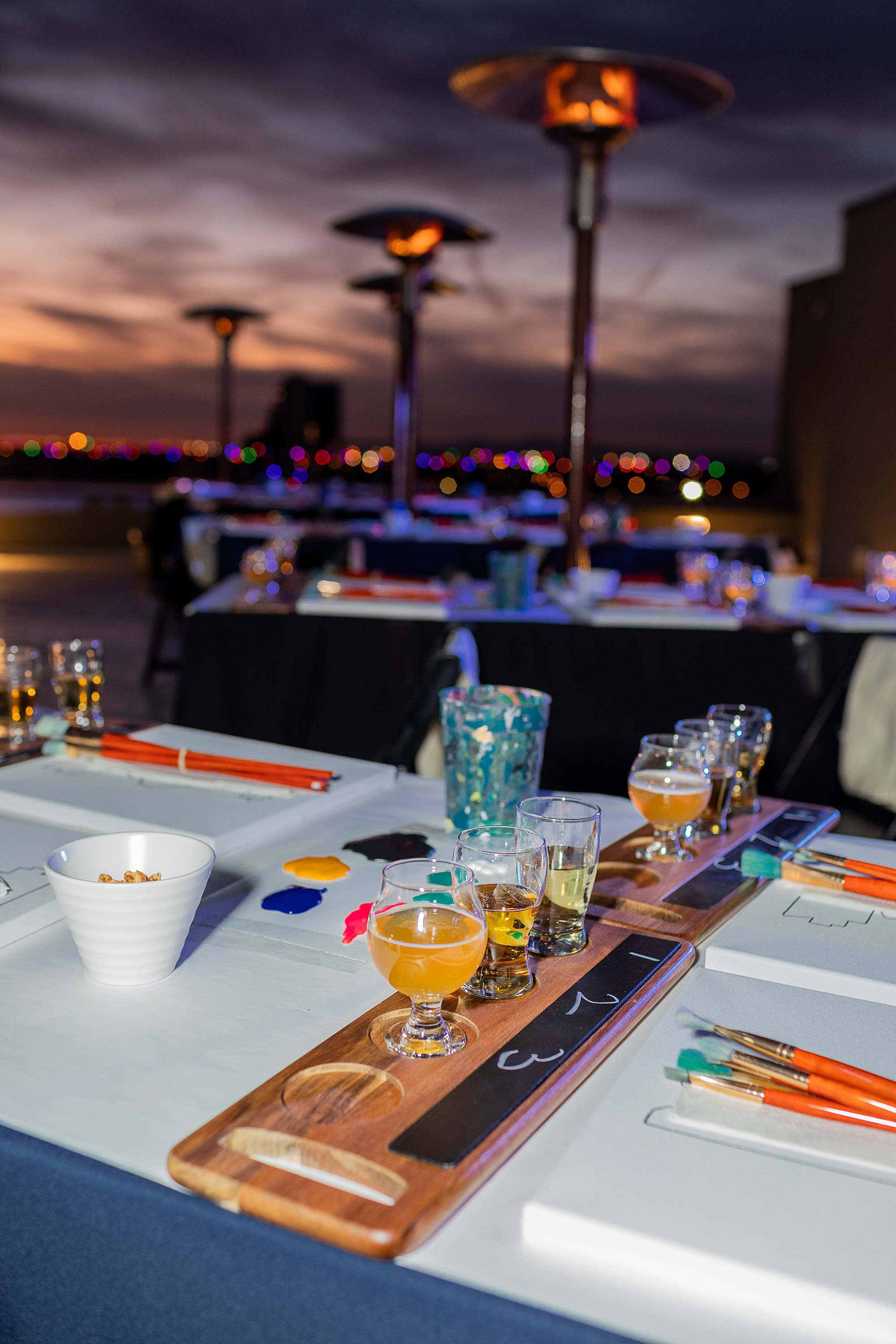 paint night in downtown phoenix Cambria downtown hotel rooftop