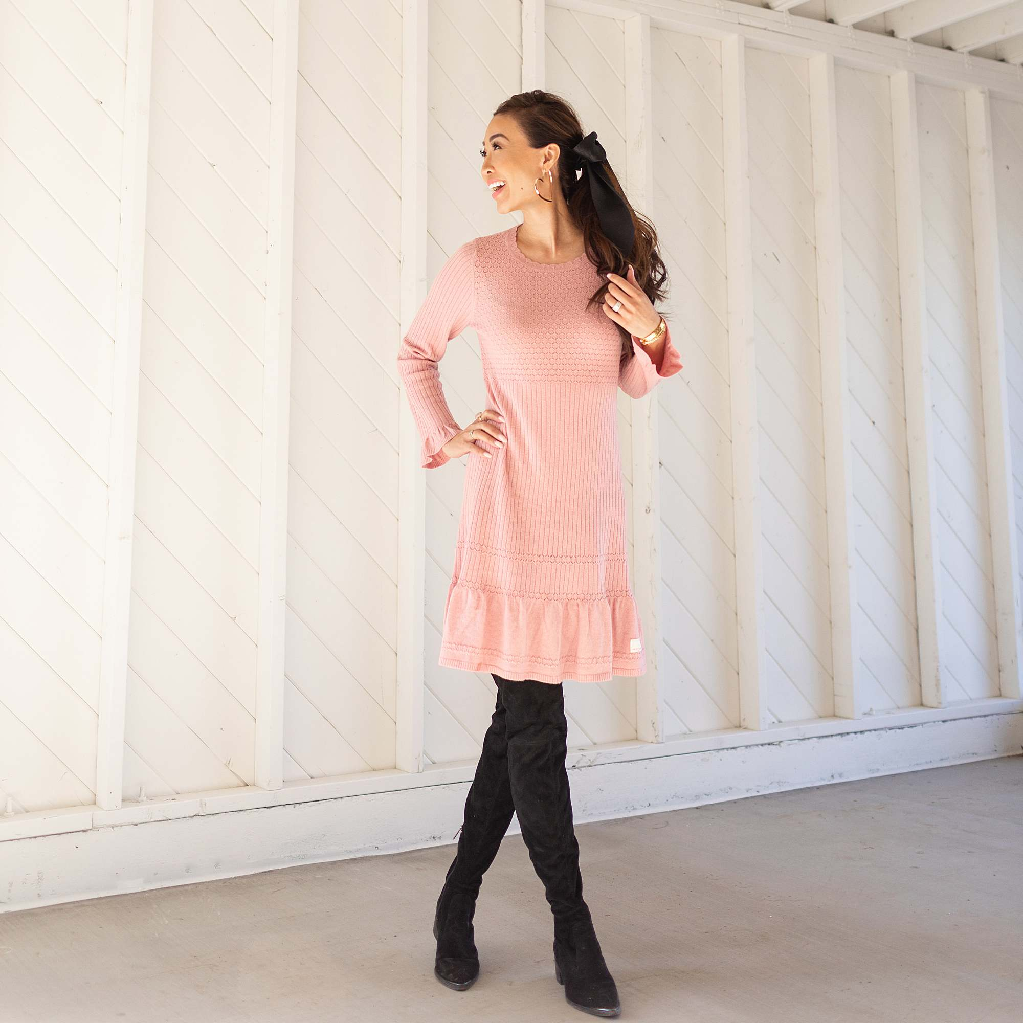 odd Molly pink dress ruffle