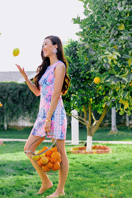 Citrus season throwing up a lemon wearing Lilly Pulitzer