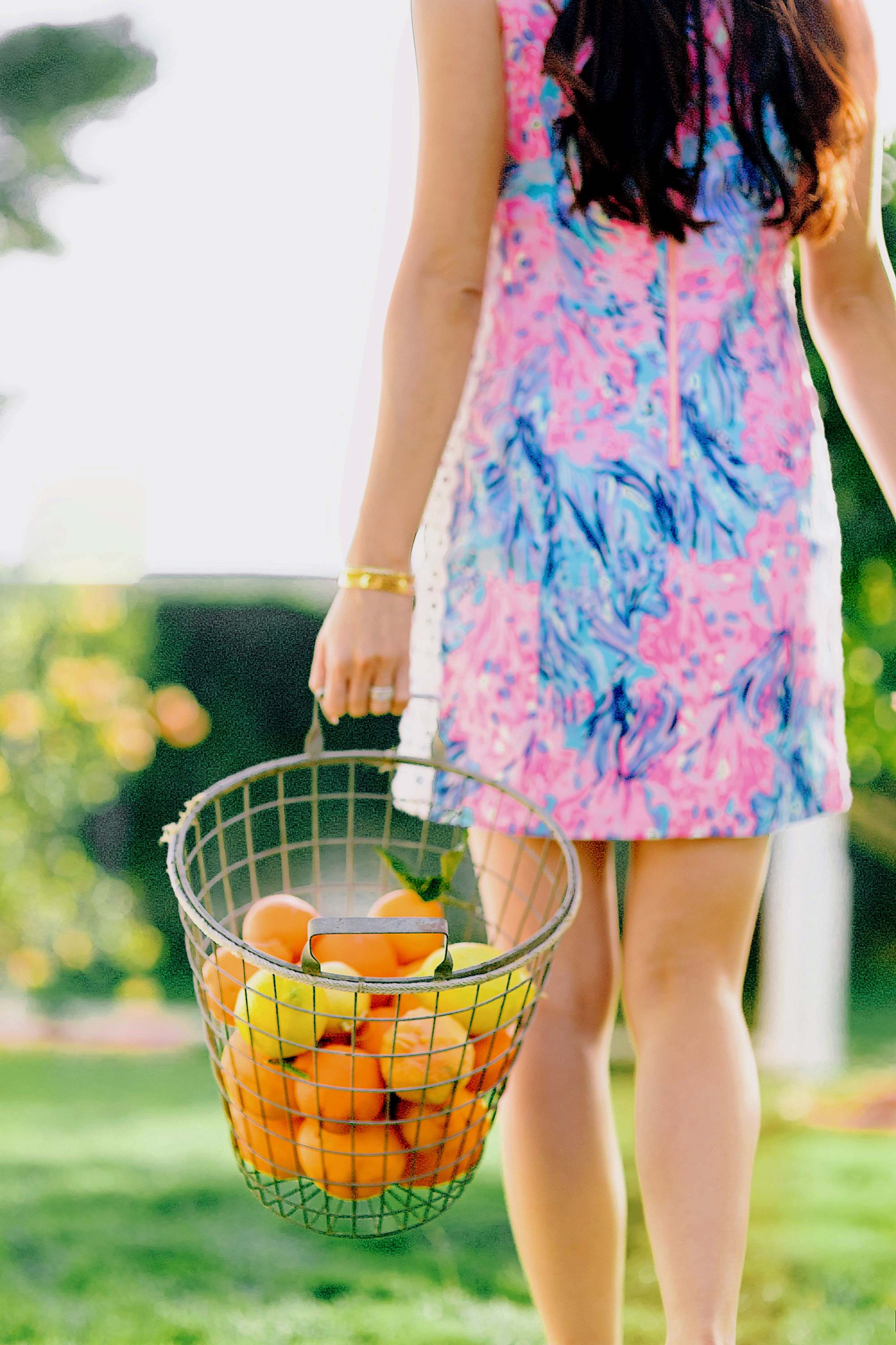 citrus gathering wearing a Lilly Pulitzer dress