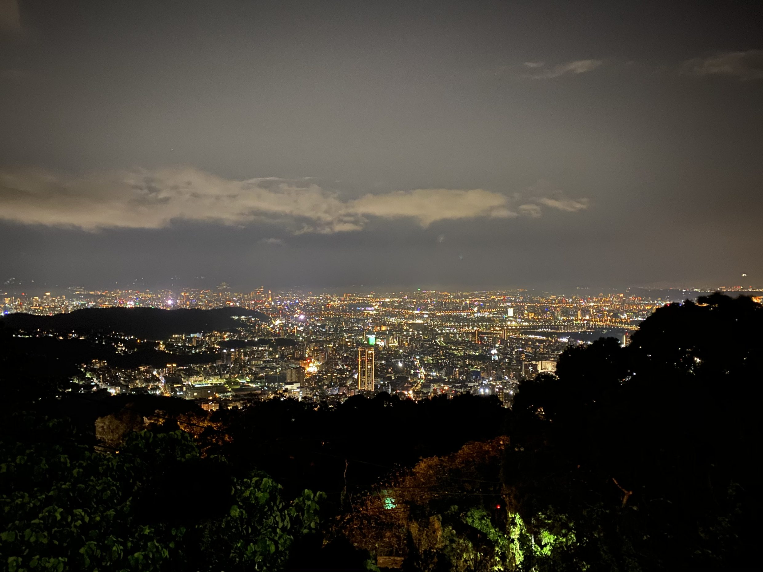 Night view of Taipei on Yangmingshan National park